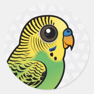 Adesivo Redondo Budgerigar de Birdorable