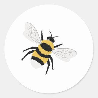 Adesivo Redondo Bumble a abelha