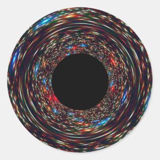Adesivo Redondo Buraco negro Supermassive