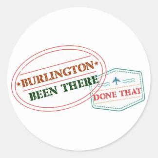Adesivo Redondo Burlington feito lá isso