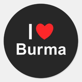 Adesivo Redondo Burma