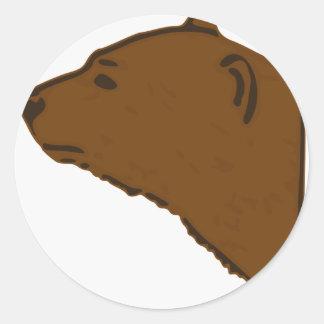 Adesivo Redondo Cabeça do urso