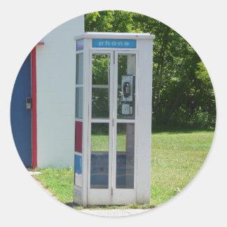 Adesivo Redondo Cabine de telefone