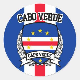 Adesivo Redondo Cabo Verde