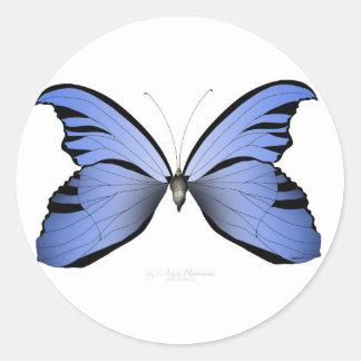 Adesivo Redondo Caçador azul do Azure da borboleta 2