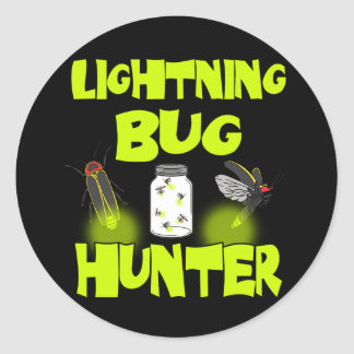 Adesivo Redondo caçador do inseto de relâmpago