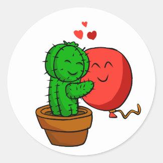 Adesivo Redondo Cacto que abraça o balão