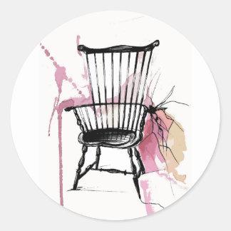 Adesivo Redondo Cadeira de Windsor