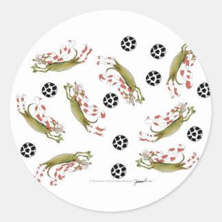 Adesivo Redondo cães do futebol dos vermelhos