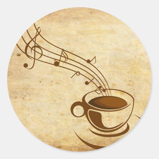 Adesivo Redondo café
