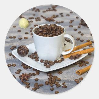 Adesivo Redondo Café e especiarias