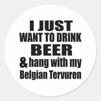 Adesivo Redondo Cair com meu Tervuren belga