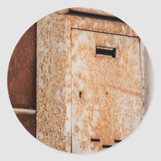 Adesivo Redondo Caixa postal oxidada fora