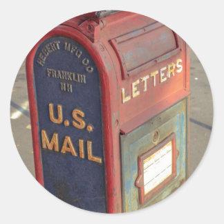 Adesivo Redondo Caixa postal velha