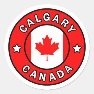 Adesivo Redondo Calgary Canadá
