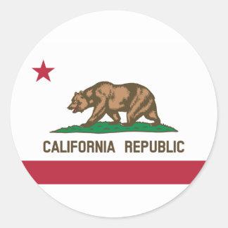 Adesivo Redondo Califórnia