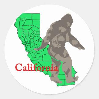 Adesivo Redondo Califórnia bigfoot
