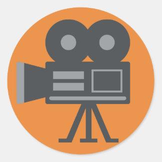 Adesivo Redondo Câmara de vídeo Emoji