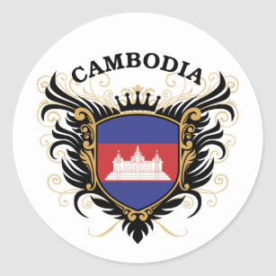 Adesivo Redondo Cambodia
