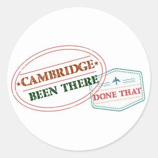 Adesivo Redondo Cambridge feito lá isso