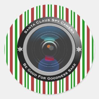 Adesivo Redondo Câmera do espião de Papai Noel
