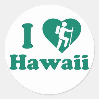 Adesivo Redondo Caminhada Havaí