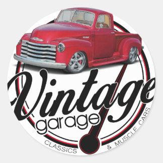 Adesivo Redondo Caminhão da garagem do vintage