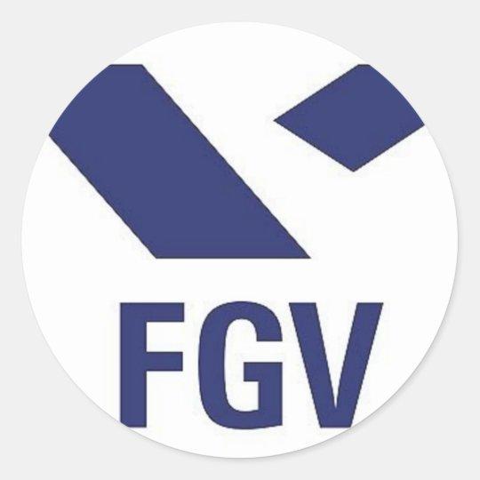 Adesivo Redondo Camiseta da FGV