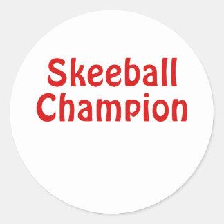 Adesivo Redondo Campeão de Skeeball