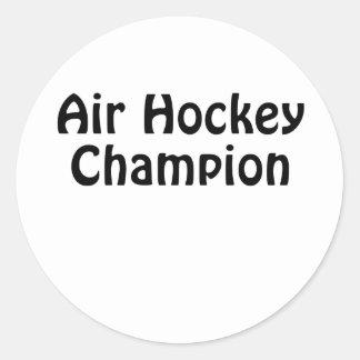 Adesivo Redondo Campeão do hóquei do ar