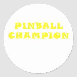 Adesivo Redondo Campeão do Pinball