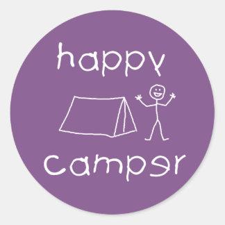 Adesivo Redondo Campista feliz (branco)