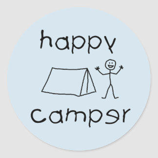 Adesivo Redondo Campista feliz (preto)