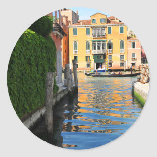 Adesivo Redondo Canal grande, Veneza, Italia