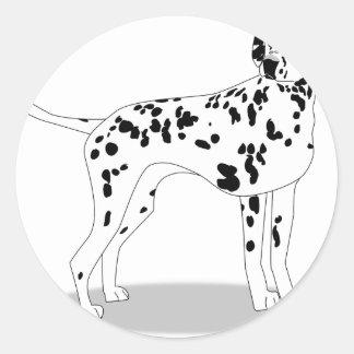 Adesivo Redondo Cão de Dalmation