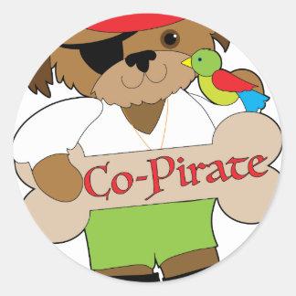 Adesivo Redondo Cão do Co-Pirata