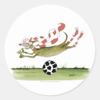 Adesivo Redondo cão do futebol dos vermelhos