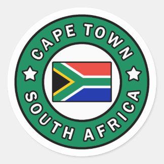 Adesivo Redondo Cape Town África do Sul