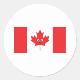 Adesivo Redondo Cara canadense da folha de bordo