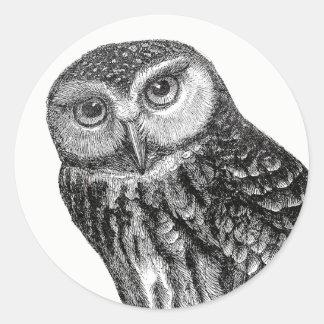 Adesivo Redondo Cara da coruja