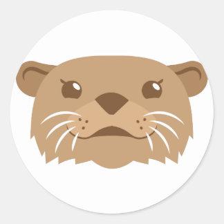 Adesivo Redondo cara da lontra