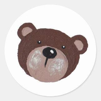 Adesivo Redondo Cara do urso