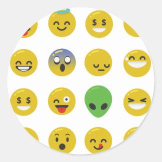 Adesivo Redondo Cara feliz de Emoji