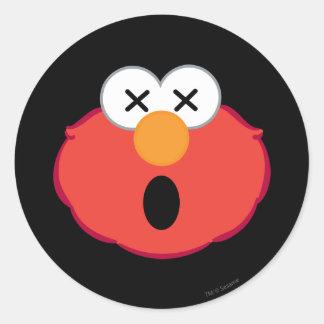 Adesivo Redondo Cara tonto de Elmo