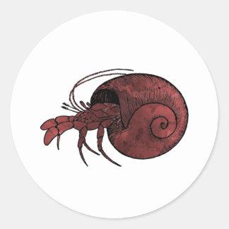 Adesivo Redondo Caranguejo de eremita