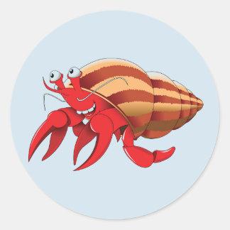 Adesivo Redondo Caranguejo de eremita bonito