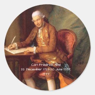Adesivo Redondo Carl Friedrich Abel