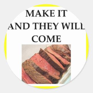 Adesivo Redondo carne assada