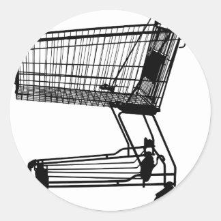Adesivo Redondo Carrinho de compras