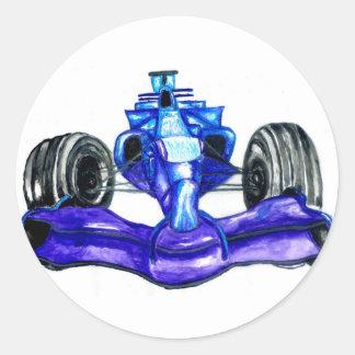 Adesivo Redondo Carro desportivo Sketch3